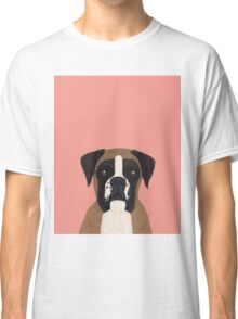 boxer dog gifts for dog person with boxer breed customizable pet portraits pet friendly  Classic T-Shirt