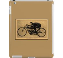 Motorcycle racing history GH Curtiss on his Double speed record iPad Case/Skin