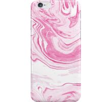 Hana - swirl marble abstract pink pastel rose quartz ocean painting modern minimal wave surfing topography map maps iPhone Case/Skin