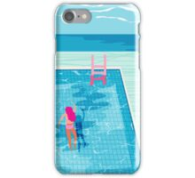 In Deep - abstract memphis throwback 1980s style retro neon palm springs simmer resort country club poolside vacation iPhone Case/Skin