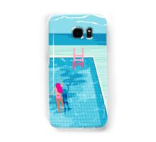 In Deep - abstract memphis throwback 1980s style retro neon palm springs simmer resort country club poolside vacation Samsung Galaxy Case/Skin