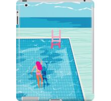 In Deep - abstract memphis throwback 1980s style retro neon palm springs simmer resort country club poolside vacation iPad Case/Skin