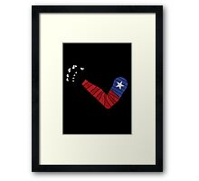 American Solider Arm Framed Print