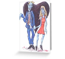 Zombies in Love Greeting Card