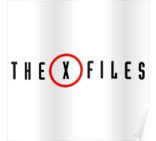 the x files logo Poster