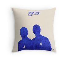 Kirk and Spock, Star Trek Throw Pillow