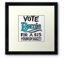 VOTE BERNIE Framed Print
