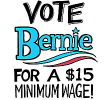 VOTE BERNIE Photographic Print