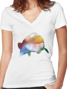 Mole  Women's Fitted V-Neck T-Shirt