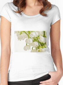 Lily Of The Valley - Macro  Women's Fitted Scoop T-Shirt