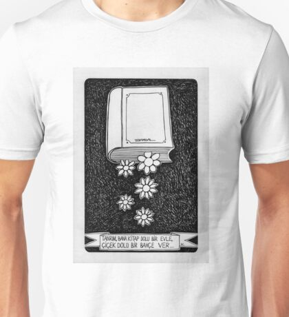 Book and flower  Unisex T-Shirt