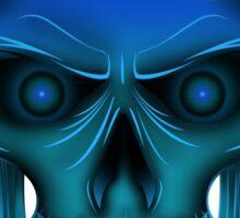 Flame Skull - Blue Sticker