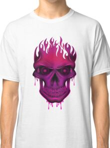 Flame Skull - Hot Pink (2) Classic T-Shirt