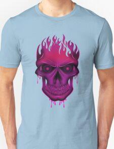 Flame Skull - Hot Pink T-Shirt