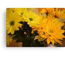 Yellow/Orange Flowers Close-up Canvas Print
