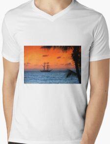 Caribbean Sunset Mens V-Neck T-Shirt