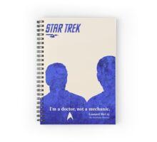 Star Trek Blue silhouettes Spiral Notebook