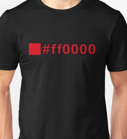 Colour Red #ff0000 Unisex T-Shirt