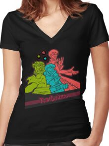 Runewriters: Power Trio Women's Fitted V-Neck T-Shirt