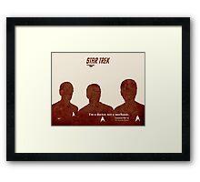 Red Star Trek, Kirk Framed Print