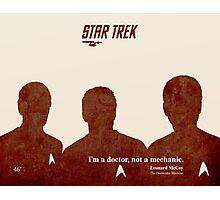 Red Star Trek, Kirk Photographic Print
