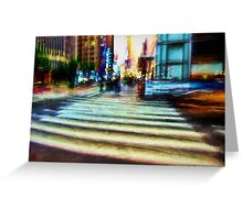 Twilight NYC Abstract Greeting Card