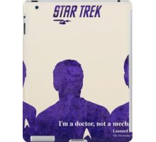 Star Trek McCoy quote iPad Case/Skin