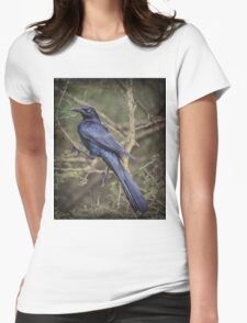 Great-tailed Grackle: BL9A5269 Womens Fitted T-Shirt