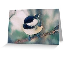 Cute Black-capped chickadee painting Greeting Card