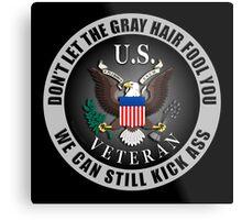 Gray Haired Veteran Metal Print