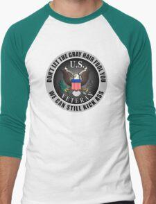 Gray Haired Veteran Men's Baseball ¾ T-Shirt