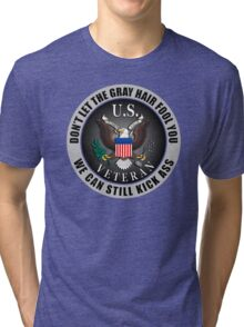 Gray Haired Veteran Tri-blend T-Shirt