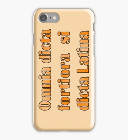 Funny Latin slogan for know-alls iPhone Case/Skin