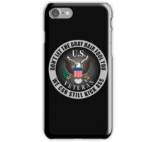 Gray Haired Veteran iPhone Case/Skin