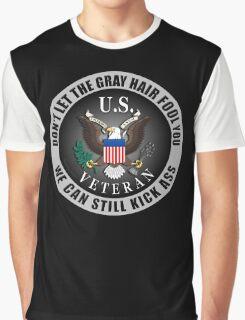 Gray Haired Veteran Graphic T-Shirt