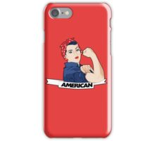 American Rosie Riveter for 4th of july iPhone Case/Skin