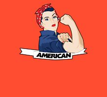 American Rosie Riveter for 4th of july Women's Fitted V-Neck T-Shirt