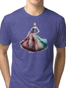 Prima Ballerina Girl Fashion Pink Dress Cinderella Girl Princess Tri-blend T-Shirt