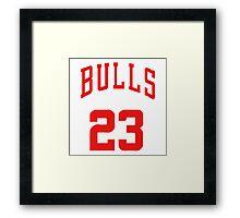 michael jordan bulls 23 Framed Print