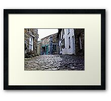 A view from the Cobbles Framed Print