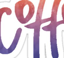 #Coffee | Watercolor Typography Tumblr/Trendy Sticker