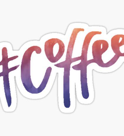 #Coffee | Watercolor Typography Tumblr/Trendy Sticker