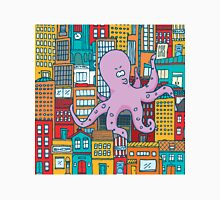 Giant octopus attack and take over a colorful city Classic T-Shirt