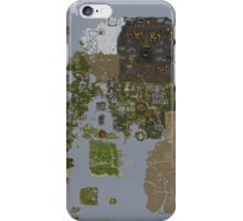 Runescape 2015 World Map iPhone Case/Skin