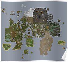 Runescape 2015 World Map Poster