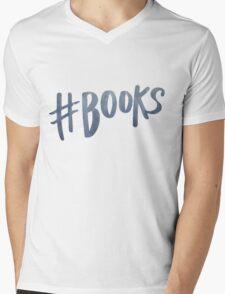 #Books | Watercolor Typography Tumblr/Trendy Mens V-Neck T-Shirt