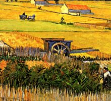 Harvest at La Crau Sticker