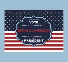 ben carson president Kids Tee