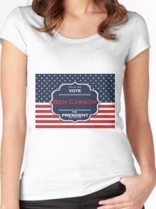 ben carson president Women's Fitted Scoop T-Shirt