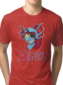 Undyne NERD! Tri-blend T-Shirt